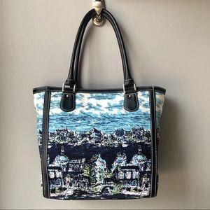 NWOT Talbots shades of Blue and white Shoulder Bag